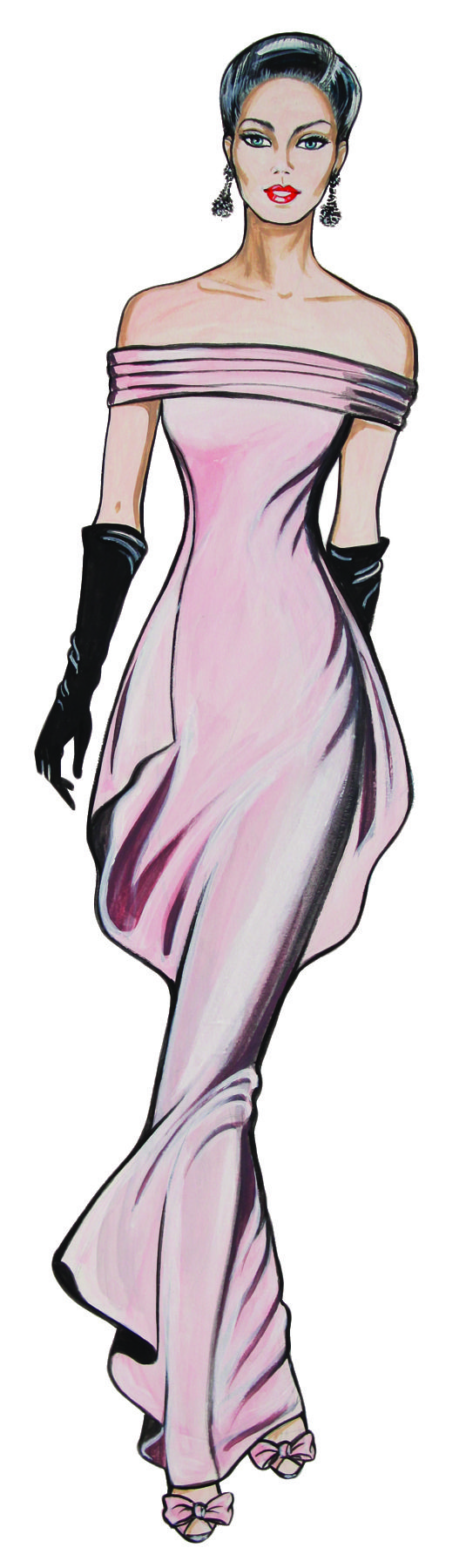 Tops fashion design sketches flat fashion sketch top 045 - Timeless Fashion Illustrator Mary Mitchell Her Work Illustrating Three Decades Of Style Now Subject Of New Book And Exhibition Drawing