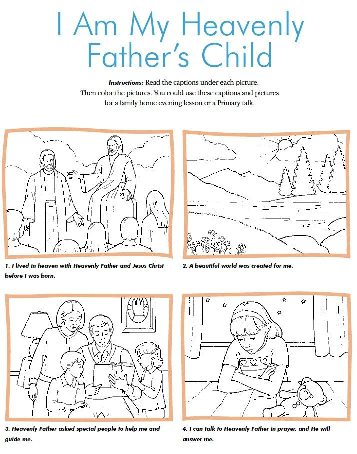 beautiful family home evening ideas for toddlers. LDS Games  Color Time I am my Heavenly Father s Child Fhe LessonsPrimary 145 best church child of God images on Pinterest Primary