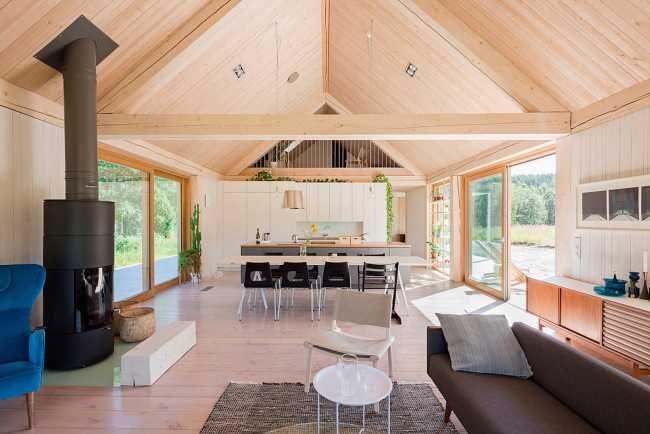 Na výstavbu štýlovej drevenice použili 7 druhov dreva | Rodinné domy | Stavby | Architektúra | www.asb.sk