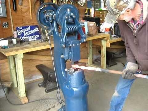 17 best ideas about blacksmith power hammer power little giant blacksmith power hammer demo