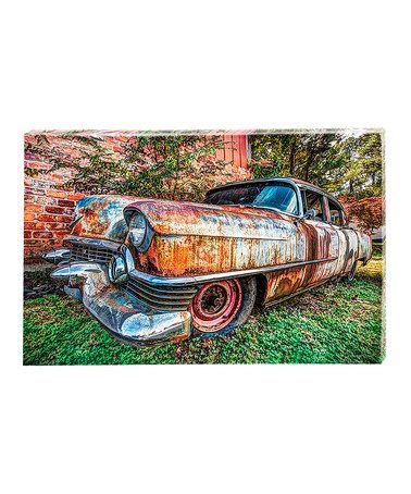 Look at this #zulilyfind! Rustic Truck Outdoor Canvas Panel Set #zulilyfinds