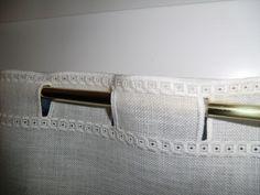 Détail rideau en hardanger Idée à suivre Plus