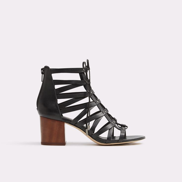 Gladiator block heel sandals