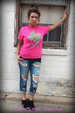 Cheetah Texas T-Shirt