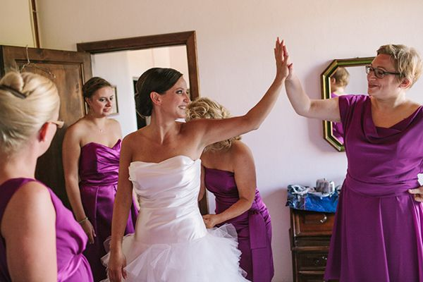 WEDDING IN TUSCANY, pink and purple, flowers
