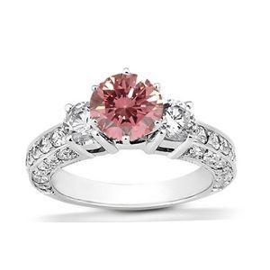 1.92 Karat Pink Diamant Ring aus 585er Weißgold. Ein Diamantring aus der Kollektion Pink von www.pearlgem.de