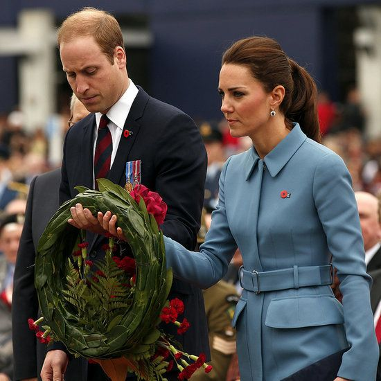 Kate and William in powder blue suit