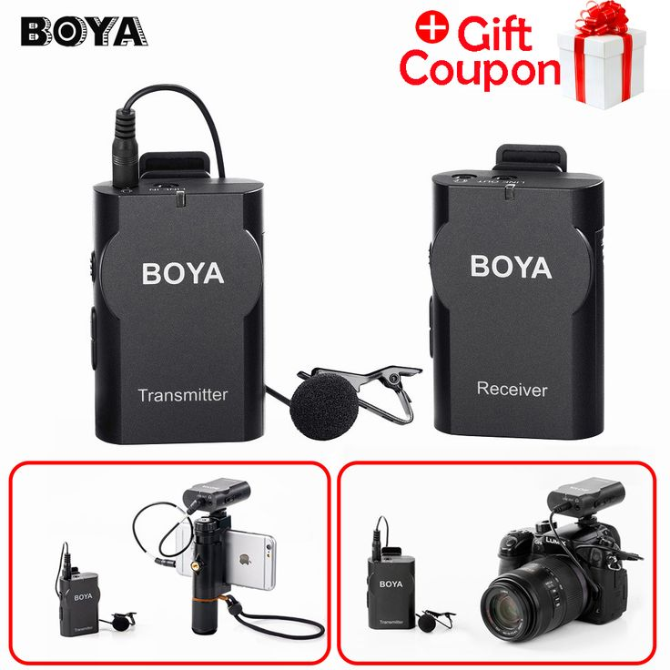 Boya BY-WM4 Professional Wireless Microphone System Lavalier Lapel Mic for Canon Nikon Sony DSLR Camcorder Recorder for iPhone 6 #Affiliate