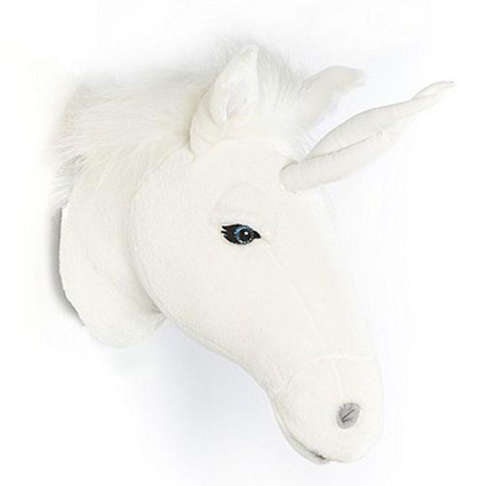 Dierenkop Unicorn wit Wild&Soft
