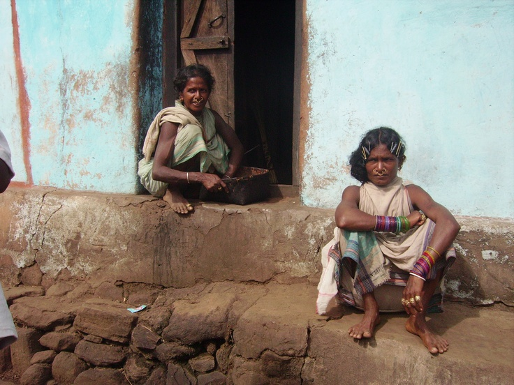 Authentic Tribal women deep in the jungle in Orissa!