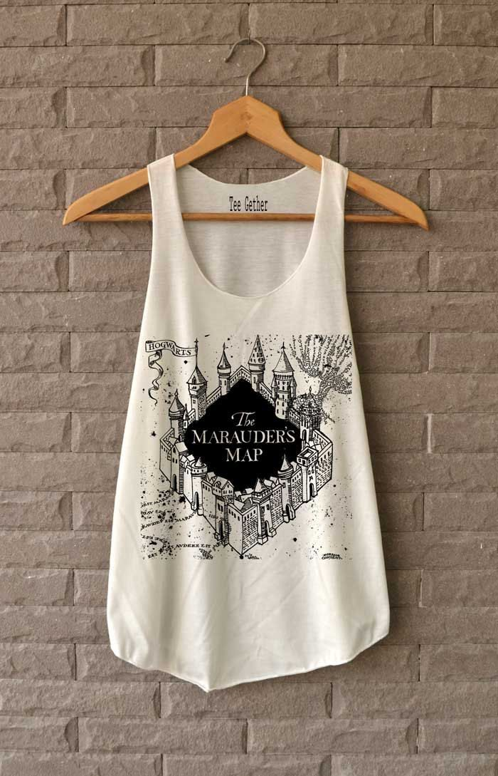 The Marauder's Map Shirt Harry Potter Shirts Tank Top  Women Size  S M L von Teegethershop auf Etsy https://www.etsy.com/de/listing/227168761/the-marauders-map-shirt-harry-potter