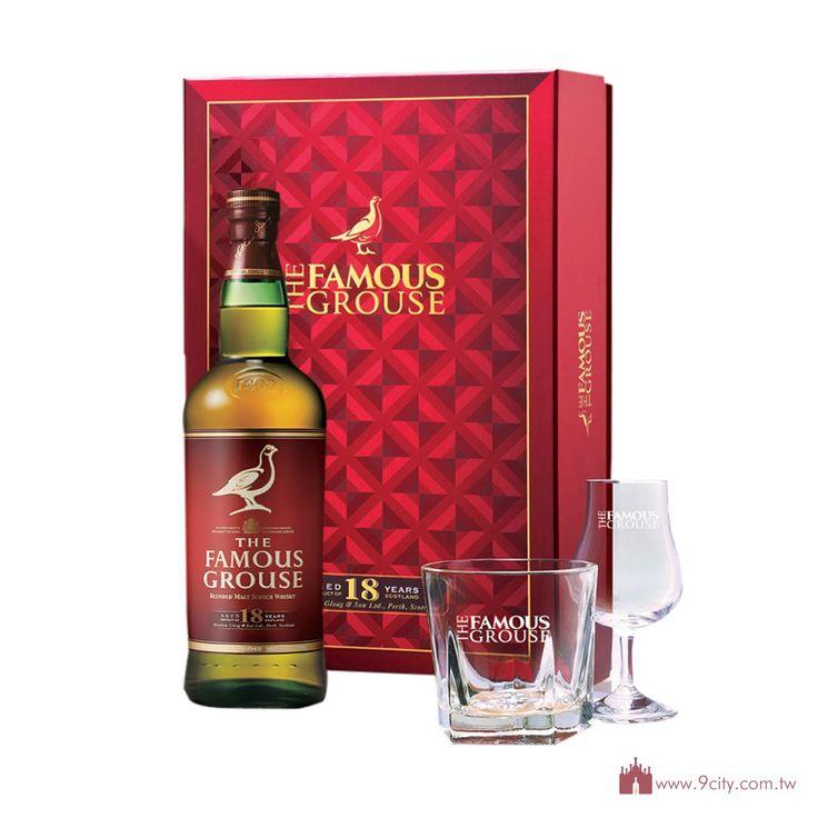 Famous Grouse 威雀 【春節2016】蘇格蘭 威雀 18年 純麥威士忌 禮盒:洋酒城洋酒量販連鎖