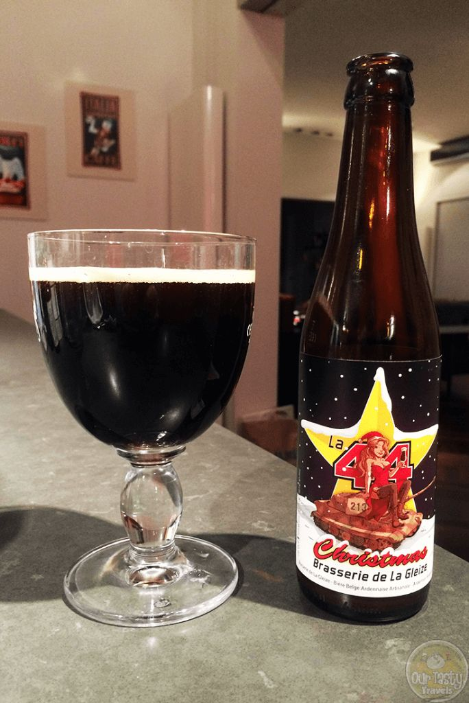 16-Dec-2015: La 44 Christmas by Brasserie de La Gleize. 6% ABV Winter Ale. Fruity aroma. Flavor of black liquorice and some dark fruits, plum maybe. Only 6% ABV, so not at all bad on alcohol burn. #ottbeerdiary #ottadvent15