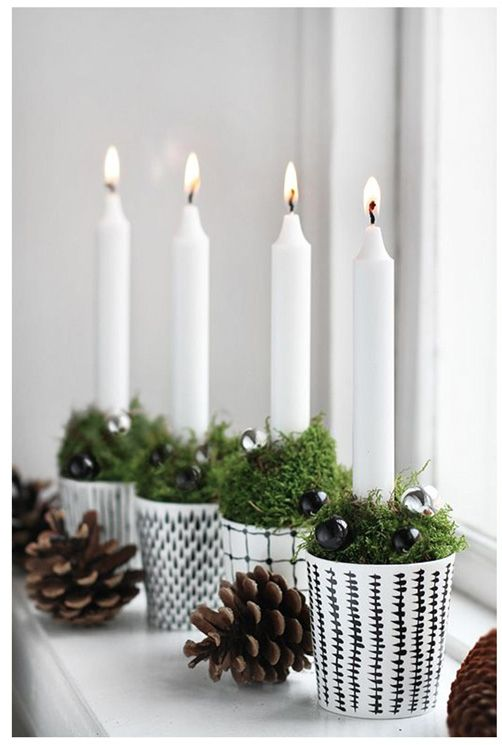 aren't you in love with these totally diy-able, cute, clean and bright christmas candle holders?