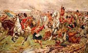 Waterloo- Gordons and Greys to the Front, 18th June, 1815  by Stanley Berkeley