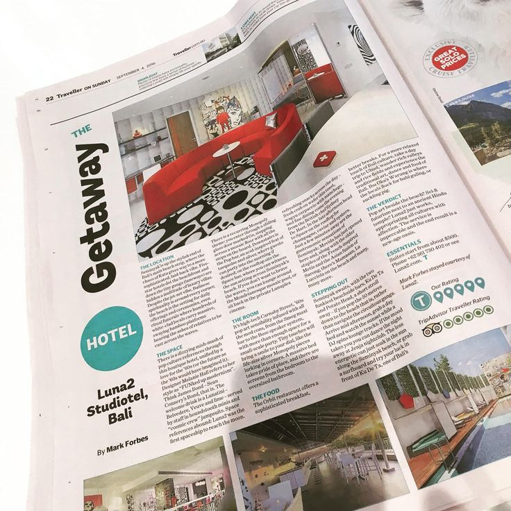 We were thrilled to see Luna2 Studiotel featured in The Sydney Morning Herald's 'Traveller' yesterday. Thanks so much for the 'Five out of five' review!  Check out the full review at http://www.traveller.com.au/the-getaway-luna2-studiotel-bal…  #Luna2life #Luna2studiotel #Luna2 #Bali #Seminyak #hotel #interiordesign #travel #designhotel #press #sydney #smh #SydneyMorningHerald #traveller #magazine #sunday #review #design by #MelanieHallDesign
