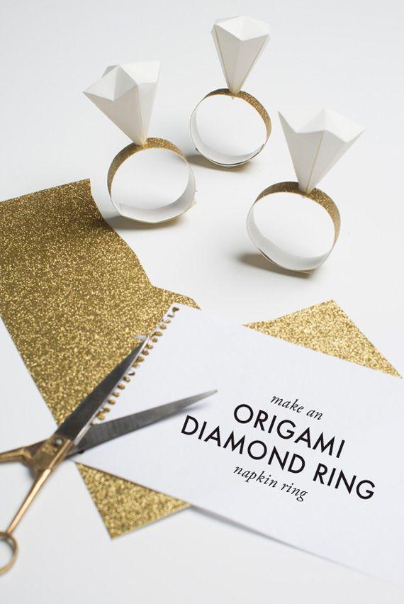 DIY Anillo de diamante para servilletas. #DIY #Bodas #Ebodas #wedding