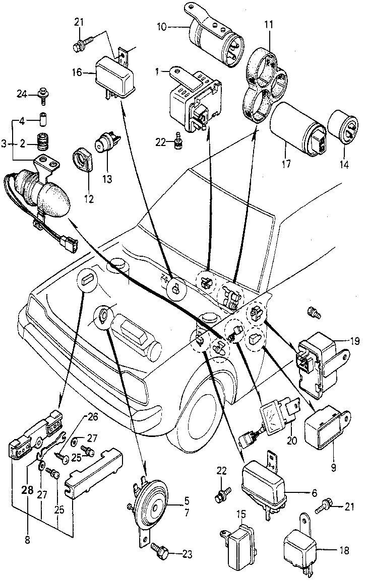 1979 honda accord lx 3d 4d hmt main fuse box horn