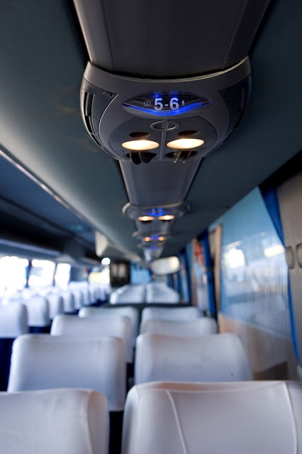 52 seater luxury coach interior.