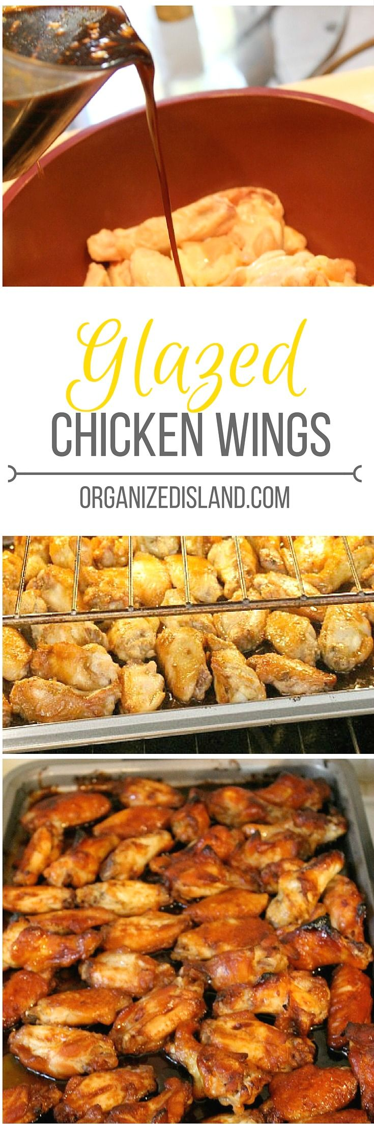 These tasty glazed chicken wings are perfect for an appetizer or football parties. These are not spicy but nicely flavored.