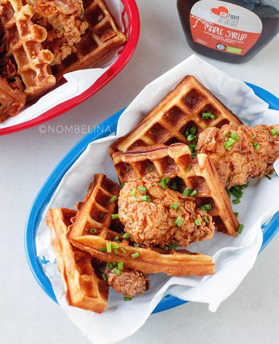 Chicken & waffles - gefrituurde kip met wafels
