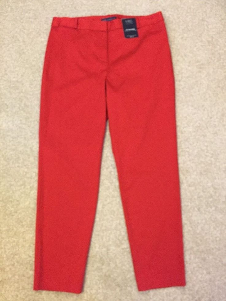 M&S COLLECTION Ladies 7/8 TROUSERS Cotton Stretch UK14 Long Sits Below the Waist