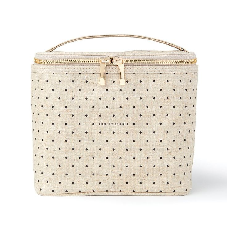 Brown-bagging it has never looked so gourmet! This lunch tote's coated linen…