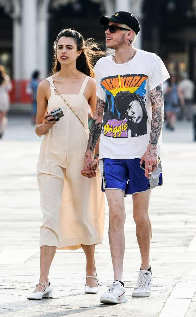 Pete Davidson And Margaret Qualley Hold Hands During Romantic