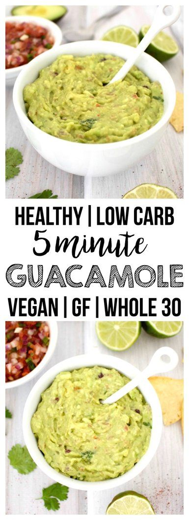 Simple & fresh guacamole that is ready in five minutes. Always a crowd-pleaser! (Vegan, Gluten-Free, Paleo, Low-Carb, Whole 30)