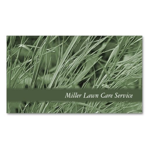 Green Grass Business Cards Business Cards Grasses And