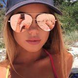 Women's Mirrored Aviator Sunglasses