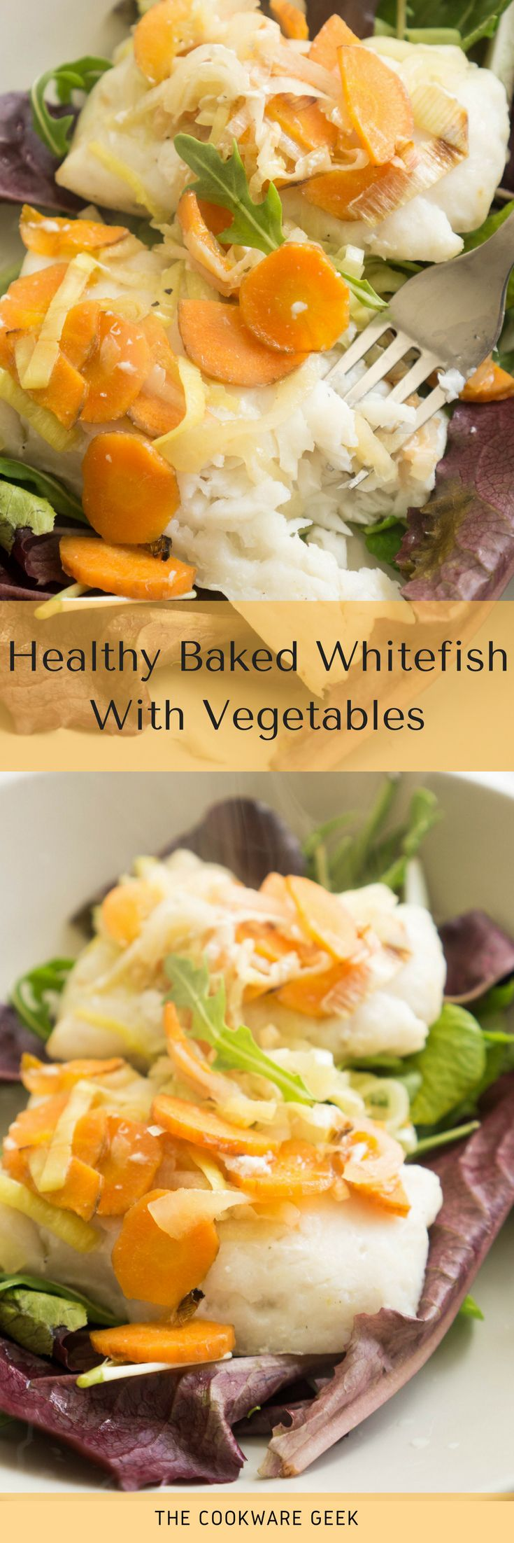 Healthy Baked Whitefish With Vegetables | The Cookware Geek