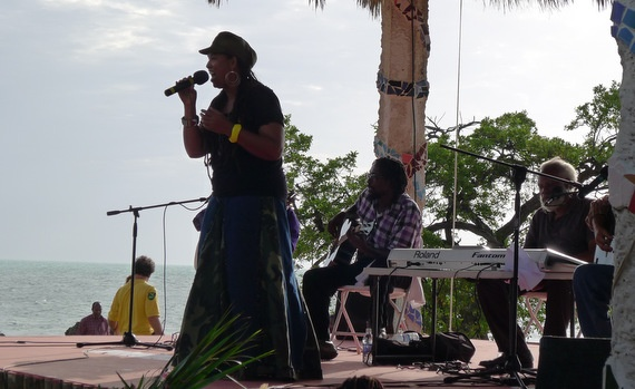 Calabash 2012 - Jamaican Literary Festival in Treasure Beach, this was the closing musical event staged by the sea!