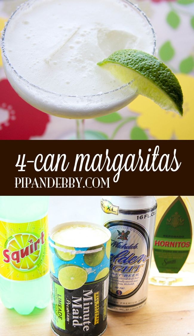 Four-Can Margaritas | The easiest margarita around! So refreshing and yummy!