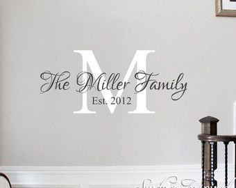 Best Wonderful Wall Decals Images On Pinterest - Monogram vinyl wall decals for boys