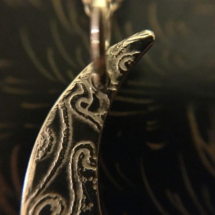 Moon pendant. Details ♥️  www.silverbykat.com