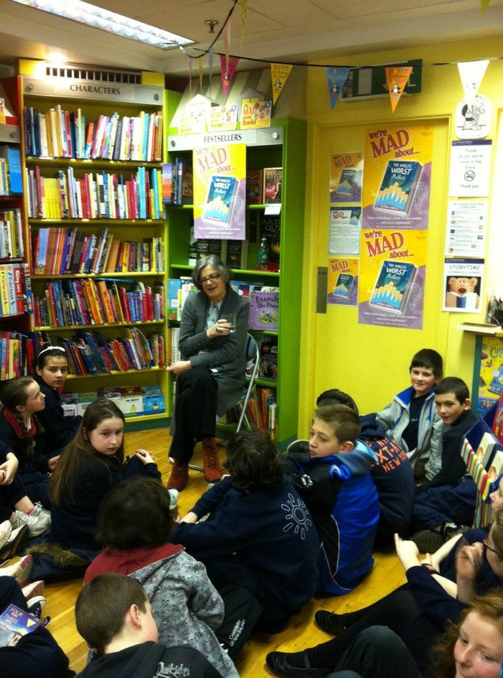 Siobhan Parkinson talking about The World's Worst Mothers at Dubray Books in Rathmines