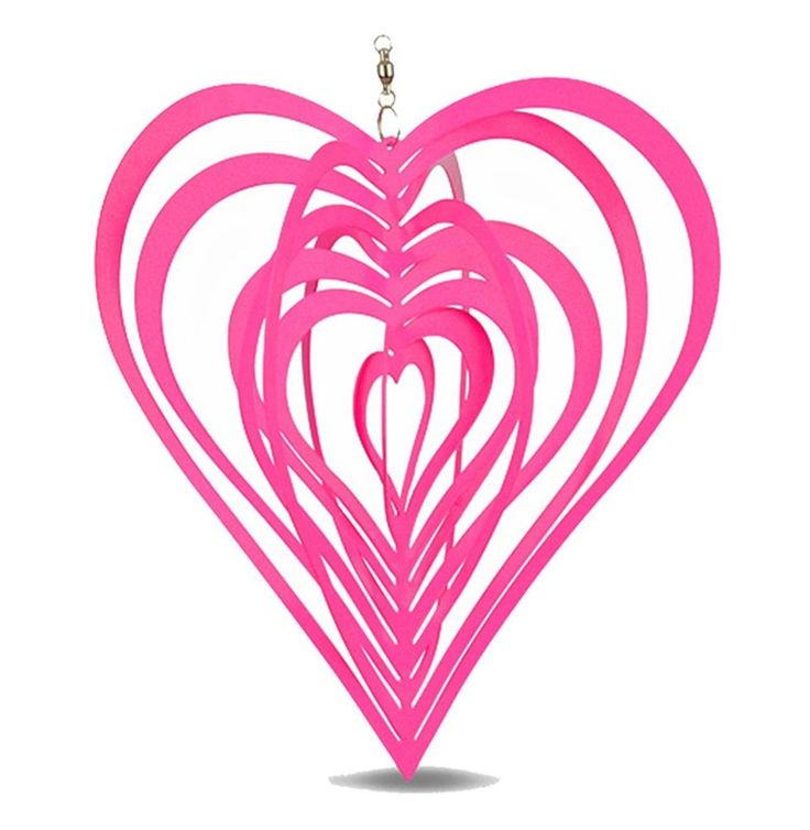 Metal Hanging Garden Wind Spinner Pink Heart Steel Garden or Home Ornament #Gardens2you #Contemporary