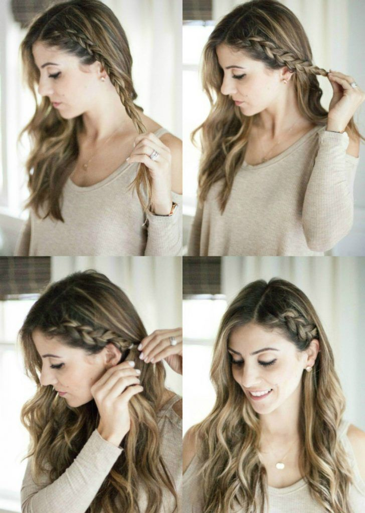 hairstyles length lazy half braid hairstyle bangs straight shoulder seemamago tie quick ways pretty hairdos updos curly mama haircuts layered