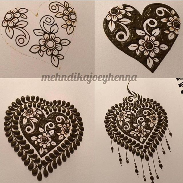 I don't celebrate Valentine's Day - so this little reverse henna heart step by step will have to suffice as my observance! I do hope you all have a magical day filled with love!!!! #valentines #hennaheart