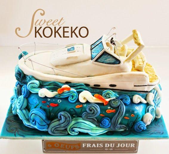 27 best Boat cake ideas images on Pinterest Nautical cake