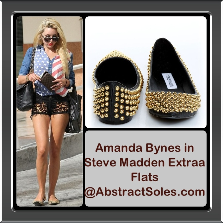 Amanda Bynes in Steve Madden Extraa Flats. Now @ AbstractSoles.com