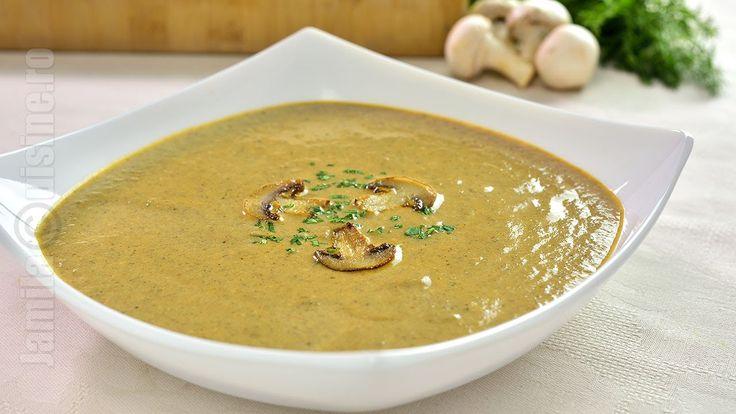 Supa crema de ciuperci - JamilaCuisine