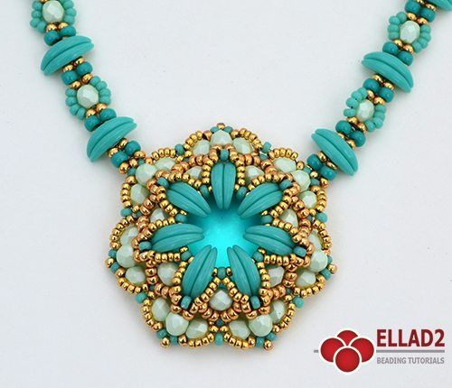 Beading Tutorial for Ozzy Necklace is very detailed, easy to follow, step by step, with clear beading instructions and color photos of each step.