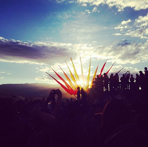 Dancing with the sun. #sunset #seeyoutomorrow #blackrockcity #burningman