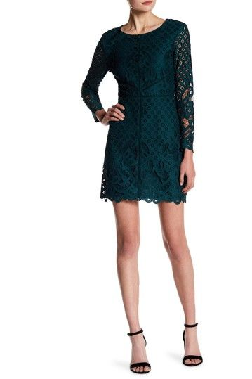 Image of cupcakes and cashmere Spence Lace Overlay Dress