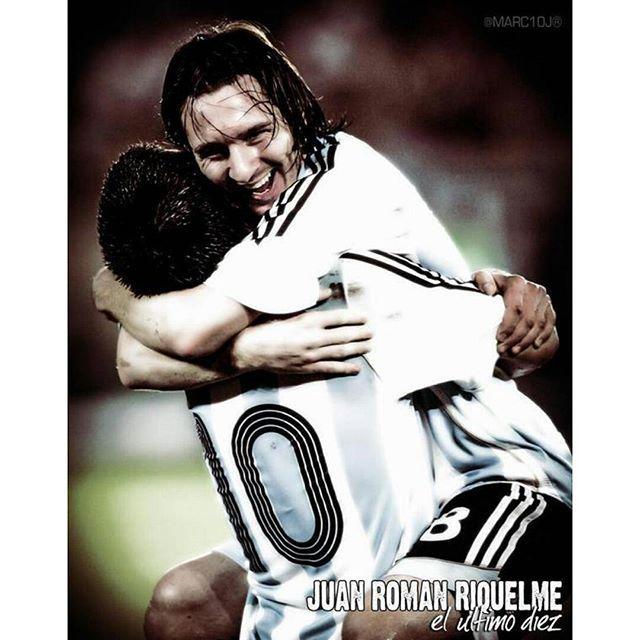 Tenemos la suerte de que Messi sea Argentino y defienda los colores de nuestro país -Juan Román Riquelme-