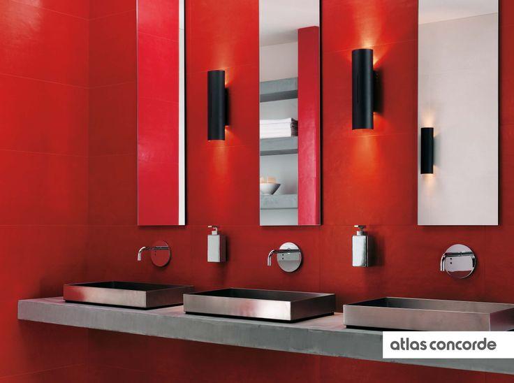 #EWALL red | #AtlasConcorde | #Tiles | #Ceramic