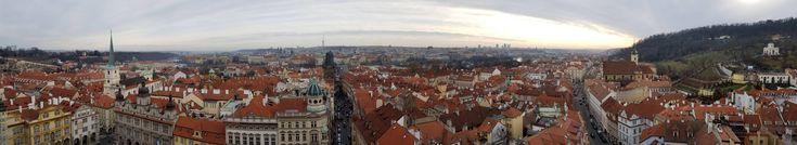 A cloudy day in Prague Czech Republic (OC)[11504x2096]