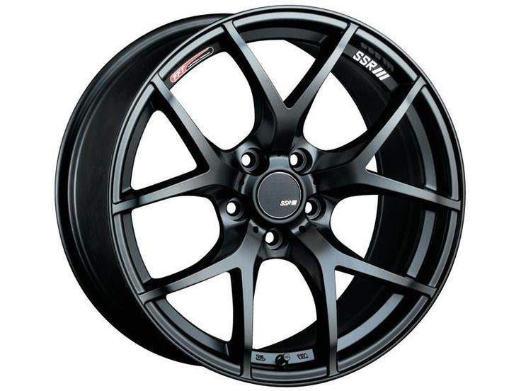 SSR GTV03 Forged Wheel - 18x9.5 Rim Size/ 5x114.3 Bolt Pattern/ 45mm Offset - Flat Black Wheel for Honda S2000/ 2011+ Subaru WRX/ 2008+ Subaru STI